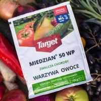 Miedzian 50 WP 100 g jabłonie, brzoskwinie, środek grzybobójczy i bakteriobójczy